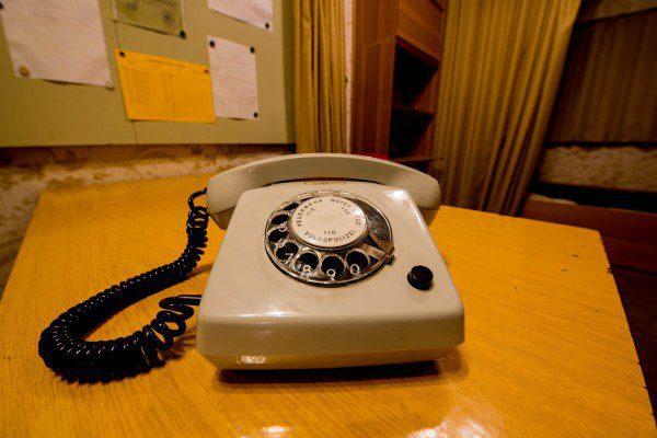 Telefon im Bauwerkskommandanten neubau